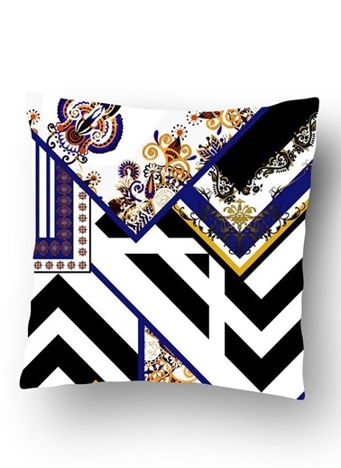 Lyn Home & Decor Zigzag Fular Deseni Yastık Kılıfı Renkli